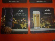 EN. aug JAPAN NIPPON ASAHI beer coaster  NR61 Beer Mats, Beer Coasters, International Trade, Voss Bottle, Coins, Asia, Japan, Ebay, Coining