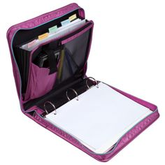 Amazon.com : Five Star Zipper Binder with Expansion Panel, 3 Ring Binder, 2 Inch, Purple (73297) : Office Products