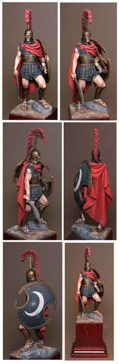 Thespian hoplite, 75mm, Romeo Models.