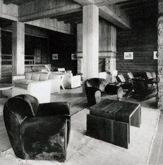 Hotel Llao Llao, Salón con muebles diseñados por Jean-Michel Frank, Año 1938