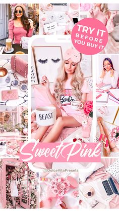 Free Pink Preset @dolcevitapresets Download here! #freepreset #freelightroompreset #lightroompresets #travelpresets #bloggerpresets Aesthetic Pictures, Lightroom Presets, Champagne, Girly, Lifestyle, Sweet, Pink, Stuff To Buy, Instagram