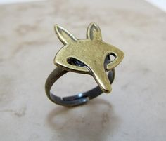 Fox Ring Foxy Mod Retro Adjustable Jewelry by CuteAbility on Etsy, $9.00