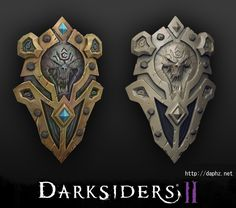 Darksiders 2 shield, Denny Zunon on ArtStation at http://www.artstation.com/artwork/darksiders-2-shield