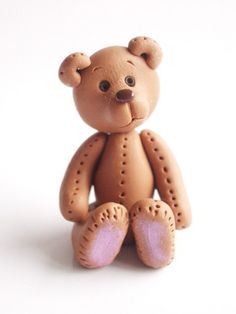 Polymer clay miniatur bear handmade by natbears on Etsy, $12.00