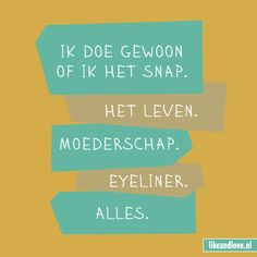 Eigenlijk snapt niemand het leven Best Quotes, Funny Quotes, Qoutes, Dutch Words, Dutch Quotes, One Liner, Awkward Moments, Happy Moments, Powerful Words