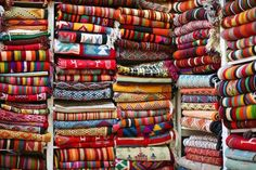 Beautiful hand woven textiles in the Medina - Sousse - Tunisia - been there - seen that
