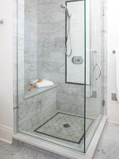 Shower idea - love the grey tile