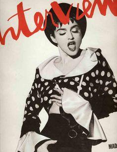 madonna; june 1990 interview magazine cover
