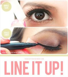 diy eyeliner with scotch tape by The Beauty Department