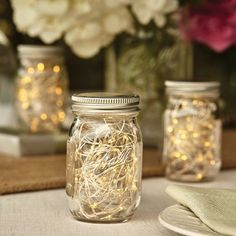 Ball Mini Storage Jar with Metal Lid, Clear crafts to make and sell design Pot Mason Diy, Mini Mason Jars, Mason Jar Gifts, Rustic Mason Jars, Jar Centerpieces, Wedding Centerpieces, Graduation Centerpiece, Jar Crafts, Bottle Crafts