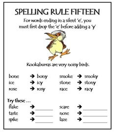 Part 2 Spelling Rules - Test how much you know about these rules. Print these, save them and practice! Improve spelling skills here. Order your High Frequency books here Improve spelling skills here. Order your High Frequency books here Phonics Rules, Spelling Rules, Spelling Practice, Spelling Activities, Teaching Phonics, Teaching Reading, Learning, Spelling Lists, English Spelling