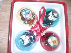 4 Mickey and friends ornaments