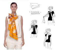 How To Tie A Scarf - Hermès Scarf Knotting Cards - Papillon