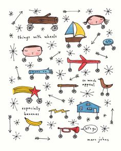 Poster | THINGS WITH WHEELS von Marc Johns