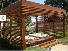 Jardim - deck com futons
