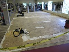 Here is Sportslex Stamford CT newly designated functional training area before flooring laid and NEW Life Fitness Synergy trainer.