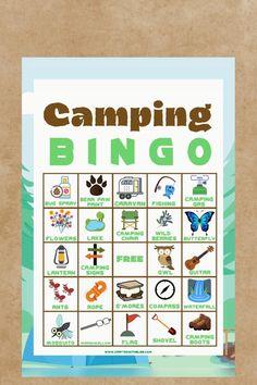 Bingo Camping, Preschool Camping Theme, Camping Games Kids, Bingo For Kids, Games For Kids, Bingo Mania, Free Printable Bingo Cards, Treasure Hunt For Kids, Bingo Sheets