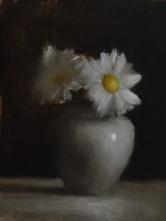 """Daily Paintworks - """"Mums"""" - Original Fine Art for Sale - © Neil Carroll Oil Painting Pictures, Oil Painting Flowers, Pictures To Paint, Still Life Flowers, Still Life Oil Painting, Art Thou, Still Life Art, Flower Art, Fine Art"""
