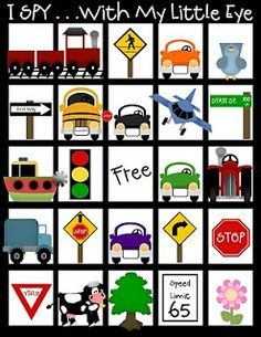 Cute printable travel games for kids, including earning tokens for good behavior in the car.
