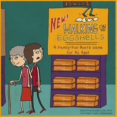 Cartoons about dysfunctional families and walking on eggshells by http://UnearthedComics.com #webcomics #humor #cartoons