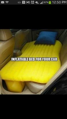 Inflatable bed for your backseat - great for short ppl like me