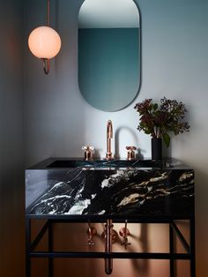8 Unexpected Marble Colors That'll Make You Forget About Carrara - Marble Ideen Black Marble Bathroom, Modern Bathroom, Marble Bathrooms, Bedroom Modern, Beautiful Bathrooms, Design Rustique, Tiles Price, Bathroom Inspiration, Bathroom Ideas