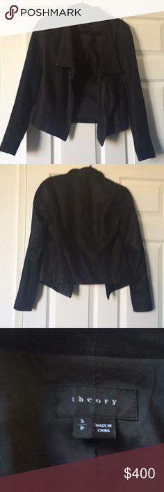 Lamb leather Theory Blazer Gorgeous theory Kenya equalizer viper jacket Theory Jackets & Coats Blazers