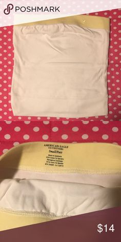 e066b66711f AE tube top Vintage AE tube top. White with yellow band at top. Great