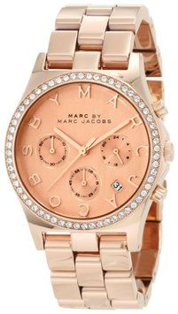 76528a4fdf3a Marc by Marc Jacobs MBM3118 Henry Women s Chronograph Watch Time Limited Gold  Watches Women