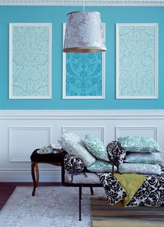 Decorate bare walls with framed wallpaper panels Framed Wallpaper, Wallpaper Decor, Wallpaper Panels, Modern Wallpaper, Bedroom Wallpaper, Wallpaper Ideas, Stone Wallpaper, Wallpaper Desktop, Girl Wallpaper