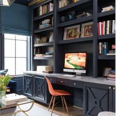 Luxury Home Office Design Ideas. Hence, the need for residence offices.Whether you are intending on including a home office or renovating an old room right into one, below are some brilliant home office design ideas to aid you get going. Office Built Ins, Built In Desk, Built In Bookcase, Bookcases, Office Bookshelves, Bookshelf Ideas, Bookcase Desk, Office Shelving, Library Shelves
