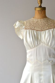 Aubade wedding gown 1930s wedding dress vintage by DearGolden