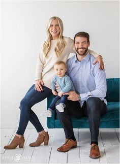 Beautiful natural light family portrait at the Denver Photo Collective on west Colfax in Denver Colorado Family Photo Studio, Studio Family Portraits, Family Portrait Outfits, Family Portrait Poses, Family Portrait Photography, Family Posing, Studio Photos, Family Potrait, Toddler Photography