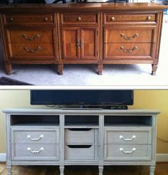 tv stand dresser upcycle redo, diy, home decor, painted furniture