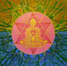 ⊰❁⊱ Mandala ⊰❁⊱ Anahata Chakra Cardiaco Heart Chakra by Ali Mc Nab Chakra Healing Music, Chakra Art, Chakra Meditation, Heart Chakra, Chakra Painting, Moon In Leo, 7 Chakras, Positive Messages, Mind Body Soul