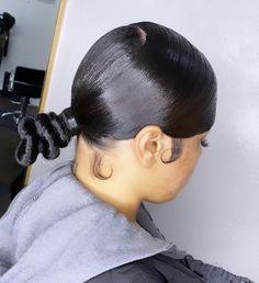 Weave Ponytail Hairstyles, Sleek Hairstyles, Baddie Hairstyles, Pretty Hairstyles, Hair Ponytail Styles, Sleek Ponytail, Curly Hair Styles, Natural Hair Styles, Aesthetic Hair