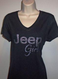 Jeep Girl Glitter Vinyl T-Shirt by TheCottageDiva on Etsy