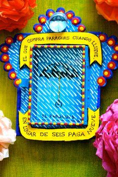 "Mexican ""nicho"": handmade box of art. love this saying!!!"