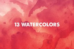 Watercolor Textures by Design Spoon on @creativemarket