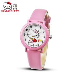 $1.96 (Buy here: https://alitems.com/g/1e8d114494ebda23ff8b16525dc3e8/?i=5&ulp=https%3A%2F%2Fwww.aliexpress.com%2Fitem%2FHot-Sale-Hello-Kitty-Watches-Girls-Children-Cartoon-Watch-Cute-Quartz-Watch-Leather-Strap-Kids-Watches%2F32566152826.html ) Hello Kitty Watch Children's Watches Candy Leather Kids Watches Girl Cartoon children Watch Baby Clock Gift Clock saat relogios for just $1.96