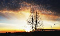 typical, beautiful sunset in kanata.