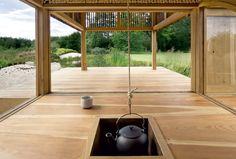 Tag der offenen Wand: Dieses ebenso schlichte wie elegante Teehaus, errichtet...