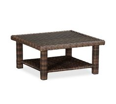 Torrey All-Weather Wicker Coffee Table - Espresso #potterybarn
