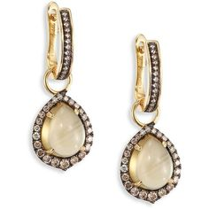 Annoushka Diamond & Olive Quartz Drops (46 835 UAH) ❤ liked on Polyvore featuring jewelry, earrings, apparel & accessories, olive jewelry, annoushka jewelry, annoushka jewellery, 18k jewelry and diamond earrings