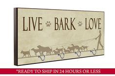 Braune Rinde Leben Liebe Hund Leine Halter von QuickShipGifts