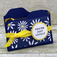 Mini File Folder Treat Holder with Video Tutorial - The Paper Pixie