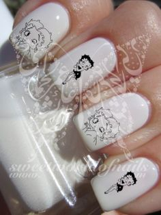 Betty Boop Nail Art Nail Water Decals Transfers Wraps