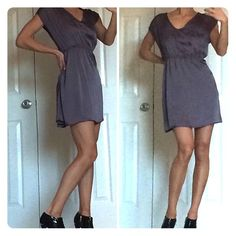 Trixxi Boutique Dress or Tunic💞 Sexy Dress or tunic, wear with or without tights/leggings! Silver gray color with rhinestones along the v-neck collar💞 Trixxi Dresses