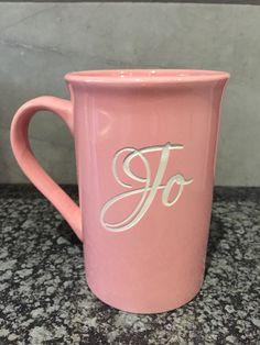 3D personalised shotblasted coffee mug.