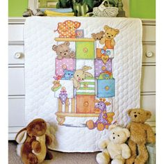 Dimensions® Stamped Cross Stitch Kit, Baby Drawers Quilt